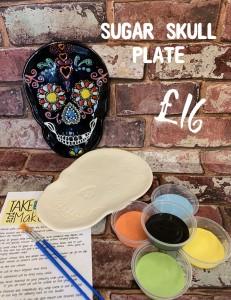 1, sugar skull plate