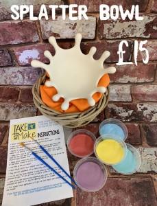 5. splatter bowl